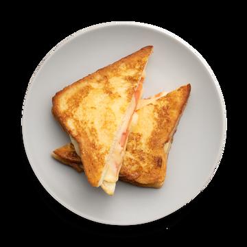 Французский тост с сыром и томатами